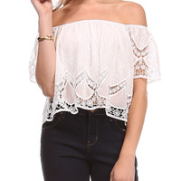 Lace Cropped Top | Lord and Taylor
