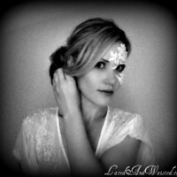 White Lace Masquerade Mask ADHERES TO SKIN (& reusable) by LacedAndWaisted