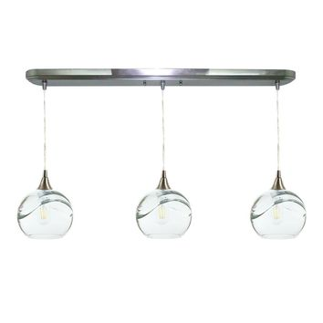 Swell 3 Pendant Linear Chandelier: Form No. 767