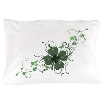 ELEGANT SHAMROCK PILLOW CASE