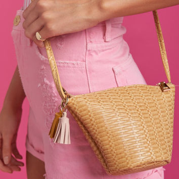 Sunset Mini Crossbody Bag ~ Natural