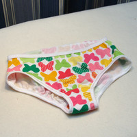 Toddler girl butterfly underwear, butterfly print panties, girls stretch cotton undewear