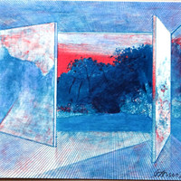 Door to Dreams, Pierre Garcia Fons, original lithograph, collectibles, virtual world, Abstraction, optical illusions, French, surreal,  Art,