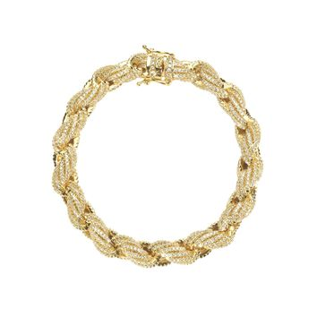 10mm Iced Out Rope Bracelet