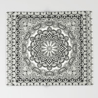 Orient Espresso Pattern Mandala Throw Blanket by Octavia Soldani | Society6