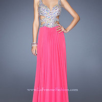 Long Sweetheart Open Back Formal Gown