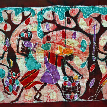 African Art, African Batik, African American Art, Batiks, Home Decor, Afrocentric Art, Black Art, Tribal Art, Afro Cuban Art
