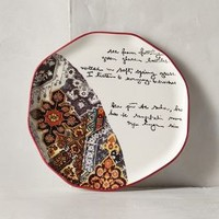Lyrical Dessert Plate by Anthropologie