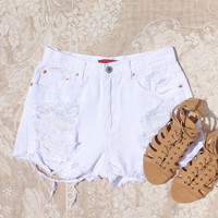 White Sands Distressed Shorts