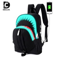 School Backpack trendy 2018 New Teenager Student Backpacks Luminous USB Charging Anti-theft Backpack  In Men's Casual Daypacks AT_54_4