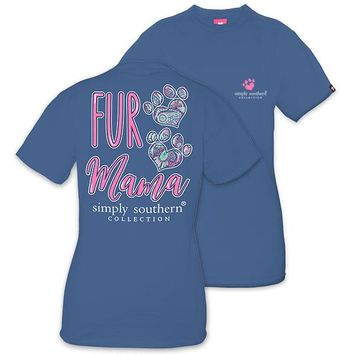 Simply Southern Preppy Fur Mama T-Shirt