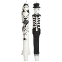 Skeleton Couple Tapers