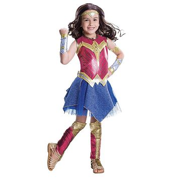 Halloween Supergirl Costume Deluxe Child Dawn Of Justice Superhero Wonder Woman Girls Princess Diana Dress Up Size 3-7 Years