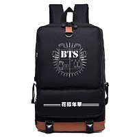 KPOP Bts bangtan boys jimin suga jhope nylon Fashion Schoolbag Backpack Satchel bag
