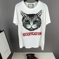 New Authentic gucci cat head t shirt  18