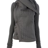 RICK OWENS LILIES stand up collar cardigan