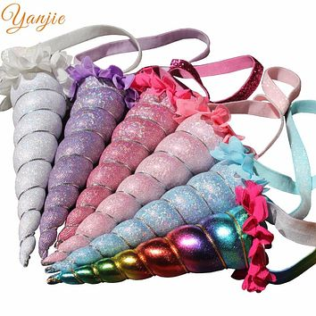 2017 Chic Metallic Cosplay Festival Girl Unicorn Horn Headband