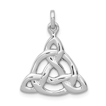 925 Sterling Silver Rhodium Plated Polished Celtic Symbol Shaped Pendant