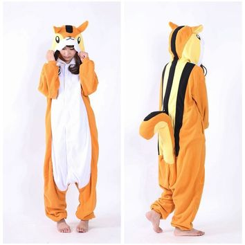 NEW Costumes Brown squirrel Adult Women Me Cosplay Pajamas Pyjamas Winter Warm Onesuits Costumes One piece Sleepwear Party Dress