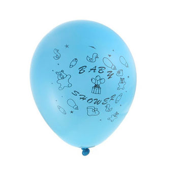 Latex Balloons Baby Shower, Toys, 12-inch, 12-pack, Blue