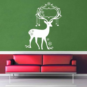Deer - Christmas Decoration - Wall Decal - No 3$8.95