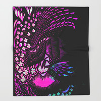 Hidden Face Throw Blanket by ES Creative Designs