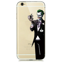 Joker Holding Apple Logo Soft Phone Case For iPhone 7 6 6s 5 5s SE