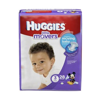 Size 3 Baby Diaper Huggies Little Movers Tab Closure (16-28 lbs) | Huggies #40766