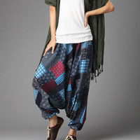 Boho Patchwork Pattern Harem Pants