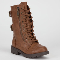 Soda Dome Girls Boots Light Tan  In Sizes