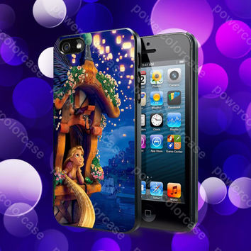 Night Evening Tangled Rapunzel Case For iPhone 5, 5S, 5C, 4, 4S and Samsung Galaxy S3, S4