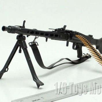 "1:6 Scale Toy Gun Weapons DRAGON WWII German MG42 Machine Gun Model Cosplay Guns Gift Collection Fit 12"" Action Figure"