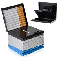 New Quality Cigarette Aluminium Alloy Holder Box 20pcs Cigarettes Storage Case Tobacco Cigar Container Holders LS
