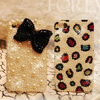 Cute Leopard and Bowknot Case for iPhone