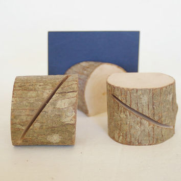 4 Rustic Place Card Holders, Table Number, Place Card Holder, Na