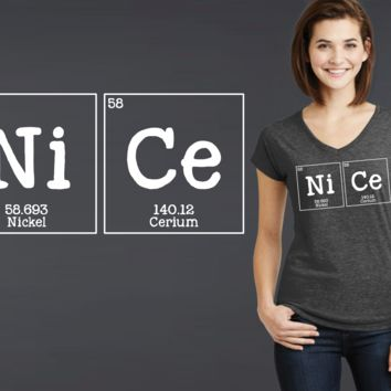 NiCe Periodic Table Geek T-shirt