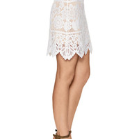 Gianna Lace Mini Skirt by For Love and Lemons at Gilt