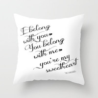 The Lumineers Lyrics Print Poster Throw Pillow by EverMore | Society6