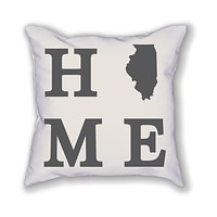 Illinois Home State Pillow