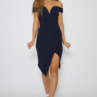 Holla Back Dress - Navy