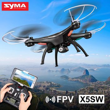 SYMA X5SW WIFI FPV Drone 2.4G 4CH 6-Axis RC Quadcopter with 0.3MP HD Camera RC Helicopter