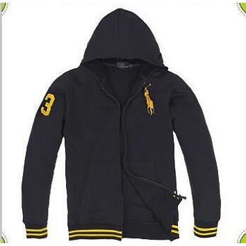 Autumn and winter hooded thick Korean men's cardigan hooded cotton fleece sweater