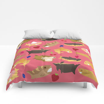 Shark Loafs - Pink Comforters by Inappropriately Adorable