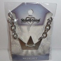 Kingdom Hearts Sora Character Cosplay Necklace with Thick Chain Disney Crown NEW