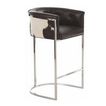 Calvin Cowhide Bar Stool