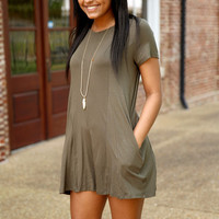 another fine day romper - olive