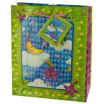 Medium Moon & Stars Birthday Gift Bag Set Of 30 Pack