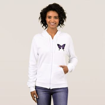 Women's Fleece Fibro Awareness Jacket