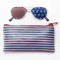 SO Stars & Stripes Aviator Sunglasses - Girls (Blue/White/Red)