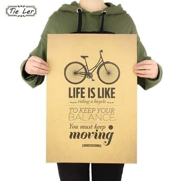 TIE LER Life is Like Riding a Bicycle Poster
